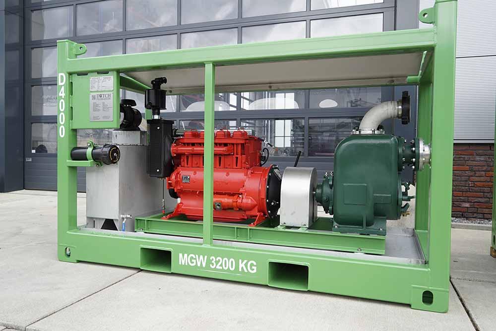 Diesel driven pump skid • Dutch Filtration