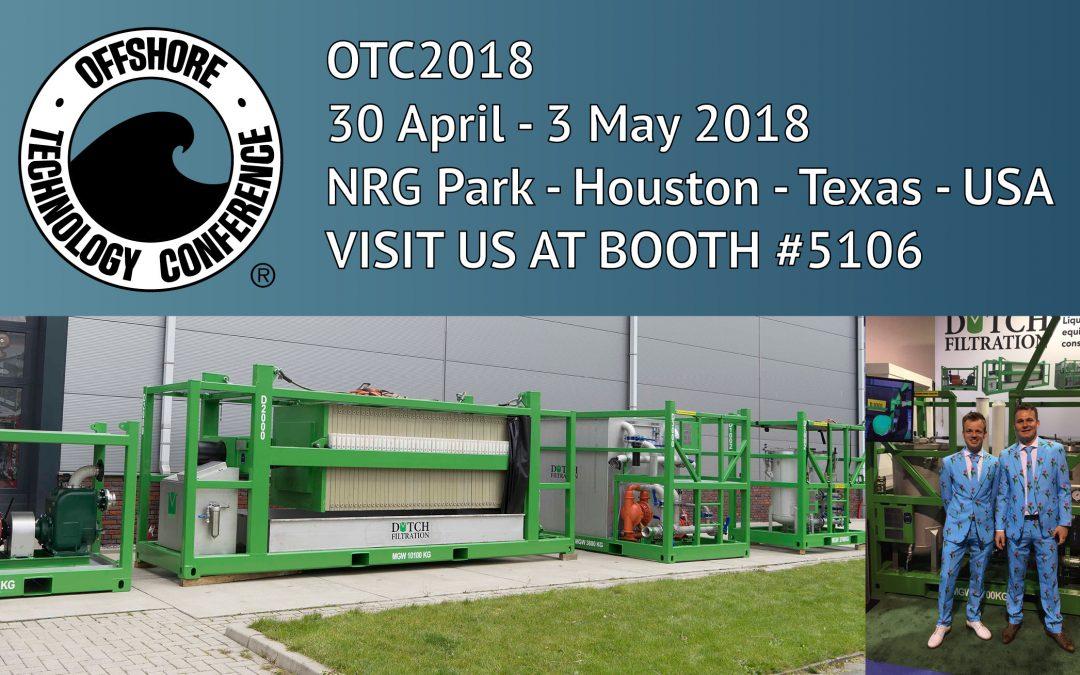 Visit Dutch Filtration at OTC Houston 2018