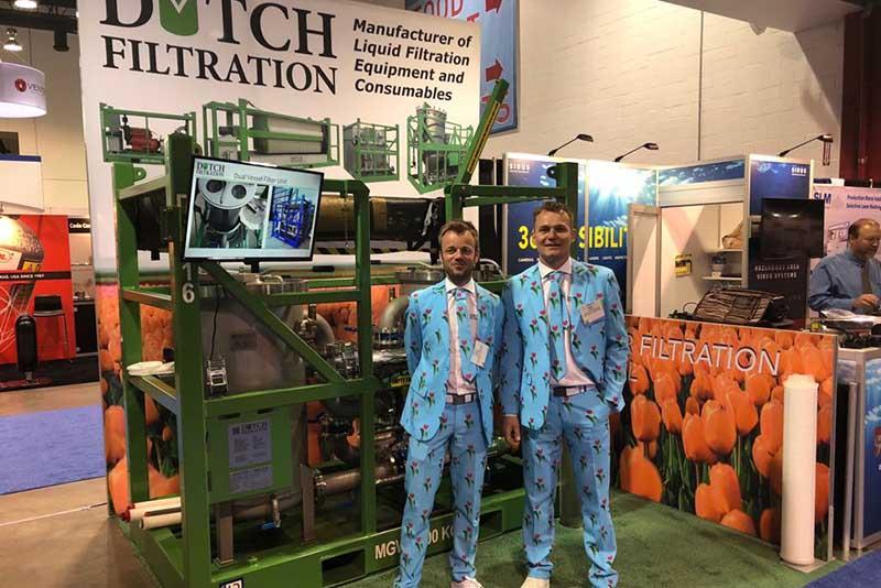 Dutch Filtration aanwezig bij OTC Houston