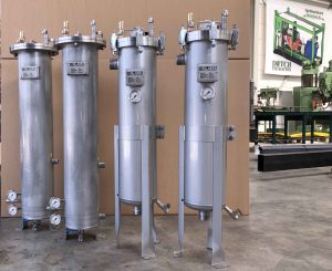 SS316 filter vessels, bag and cartridge