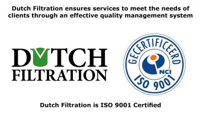 Dutch Filtration behaalt ISO 9001: 2015 certificering