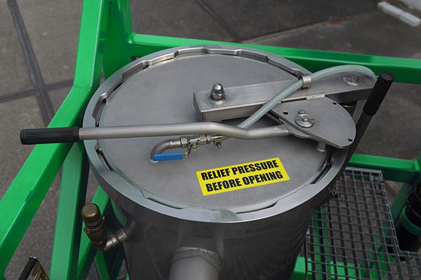 RUDI Quick Opening&Closure on duplex filter unit